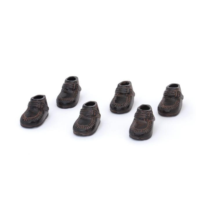 Set Of Six Kids Shoes - Bronze - Set Of 2 by GO Home