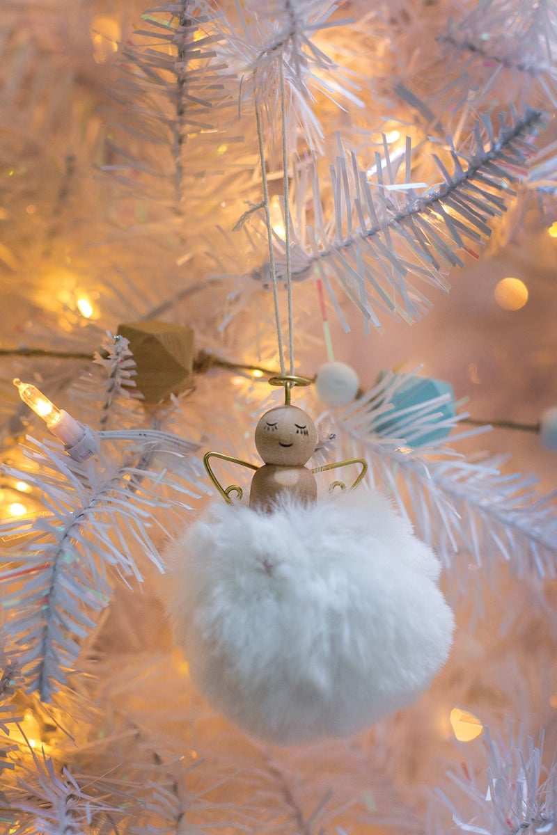 Angel Puff Ornament Set of 20 by Accent Decor