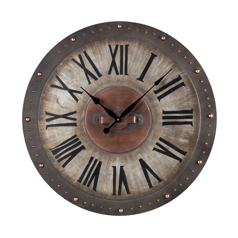 Sterling Industries Metal Roman Numeral Outdoor Wall Clock - 128-1005
