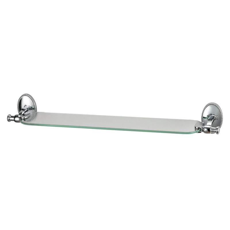 ELK Lighting Glass Shelf With Chrome Accents And Detailed Back Plate Wall Shelf, ELK Lighting, - Modish Store