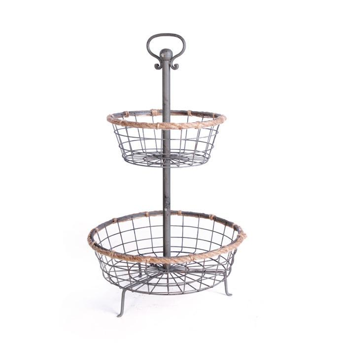 Tangled Tiered Baskets - Set Of 2 by GO Home