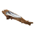 Dimond Home Teak Root Bowl With Aluminum Insert