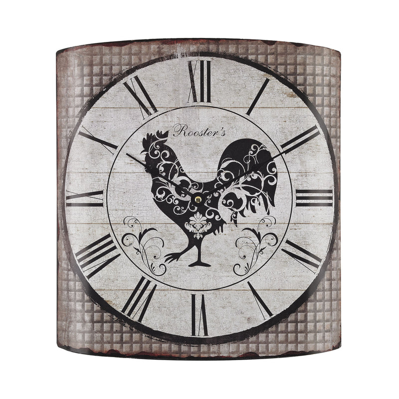 Sterling Industries Stylized Rooster Wall Clock