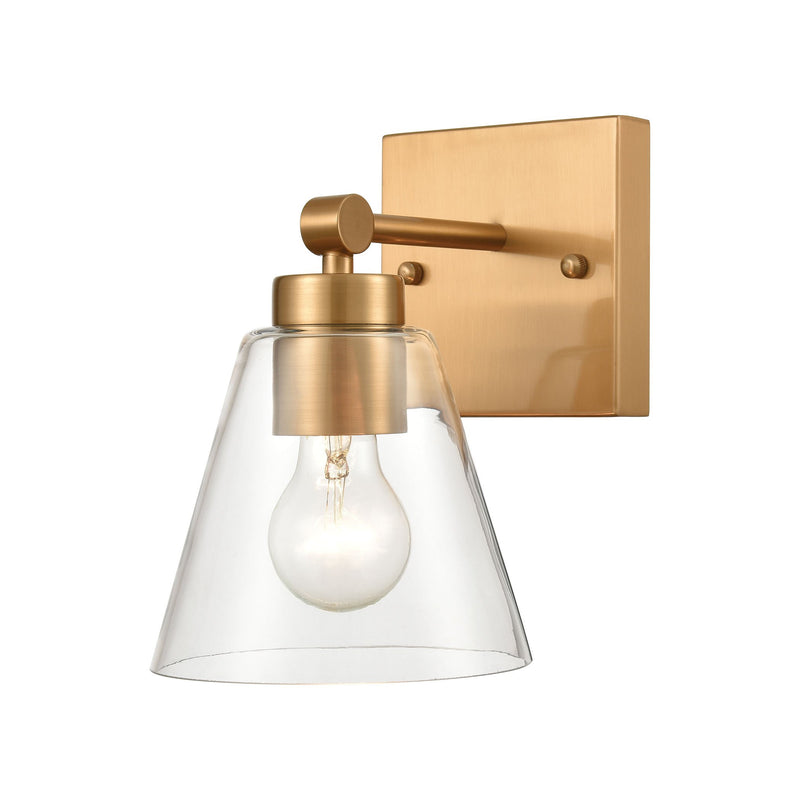 East Point 1-Light Vanity Light with Clear Glass by ELK Lighting