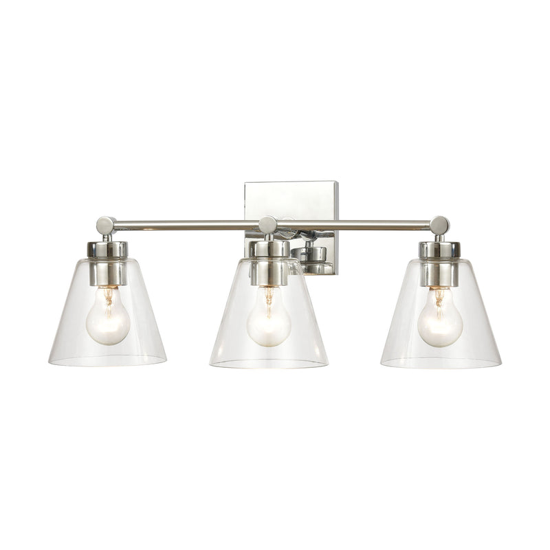 East Point 3-Light Vanity Light with Clear Glass by ELK Lighting
