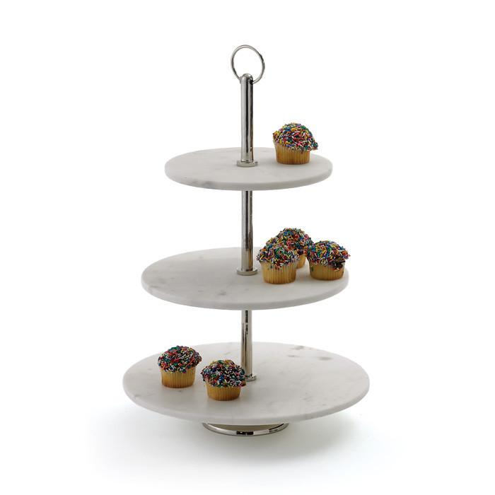Round Marble Fruit Stand by GO Home