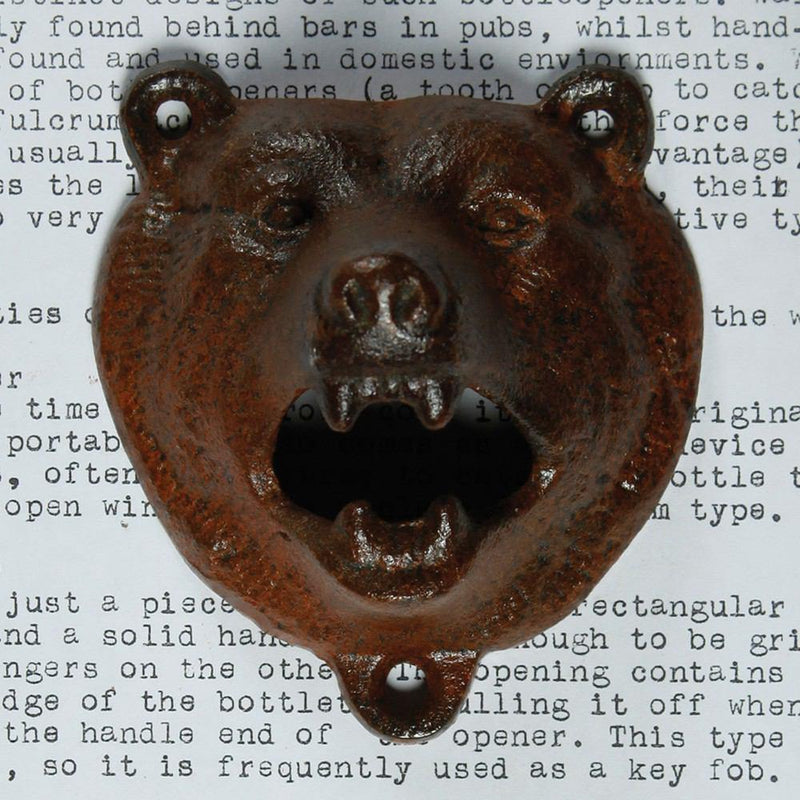 HomArt Bear Bottle Opener - Rust - Set of 6 - Feature Image