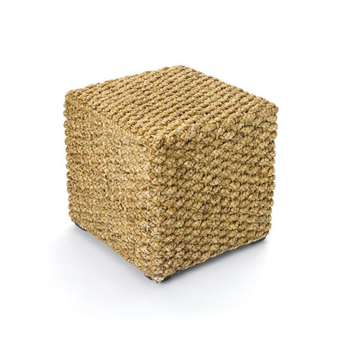 Woven Square Stool by GO Home