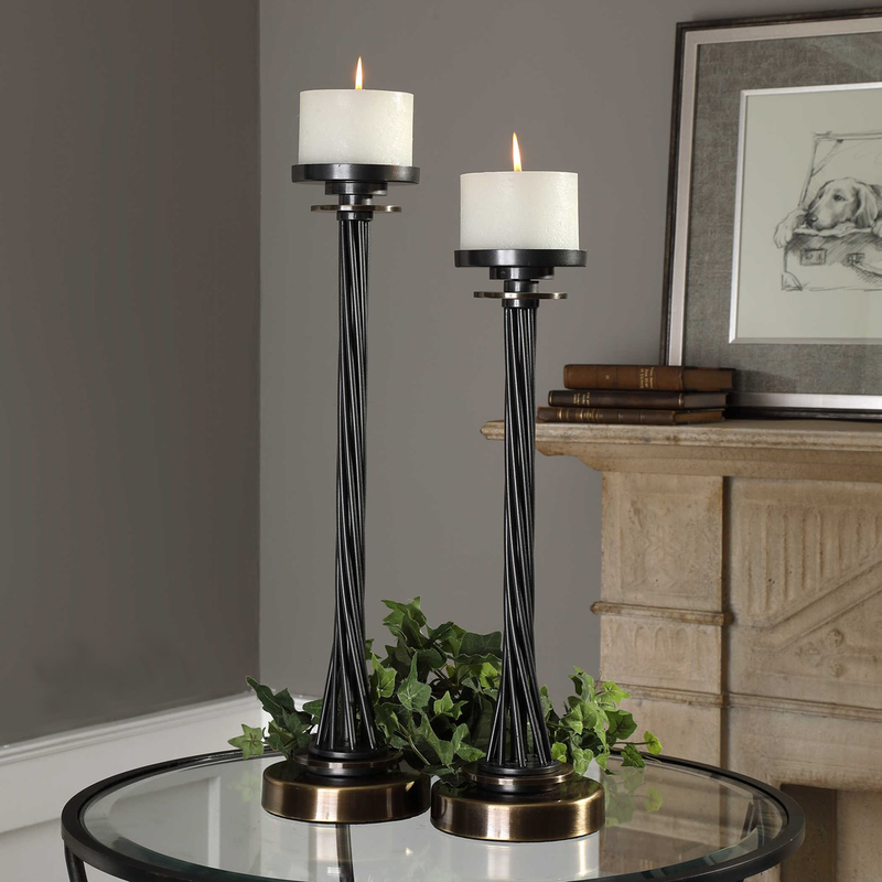 Uttermost Kendra Candleholders, S/2