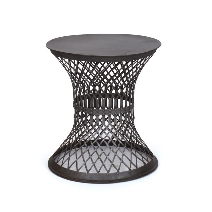 GO Home Iron Lattice Side Table