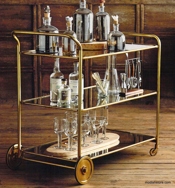 Roost Florin Brass Bar Cart Modish Store