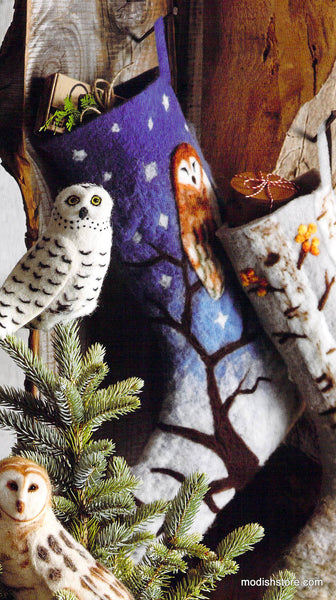 Roost Scenic Felted Stockings Modish Store
