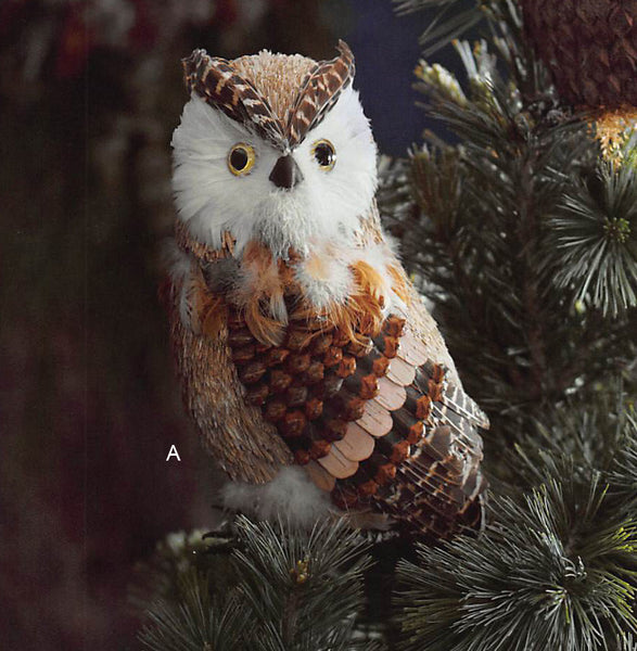 Roost Botanic Owl Tree Toppers Set Of 3 Modish Store