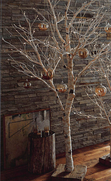 Roost Lighted Birch Artificial Trees Modish Store