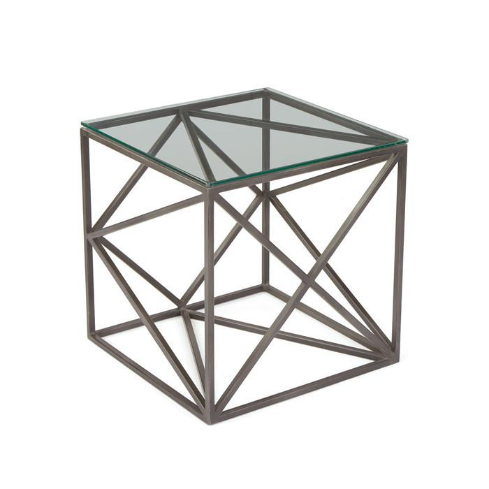 GO Home Hanover Glass Side Table