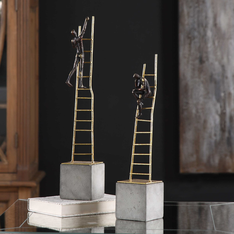 Uttermost Ladder Climb Figurines, S/2