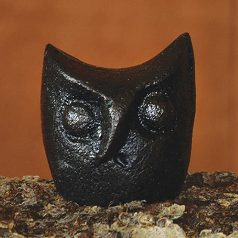 HomArt Owl Head - Cast Iron - Black - Set of 12 - Feature Image