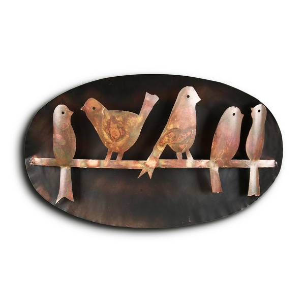 Bird Quintet on Branch Wall Hanging By SPI Home