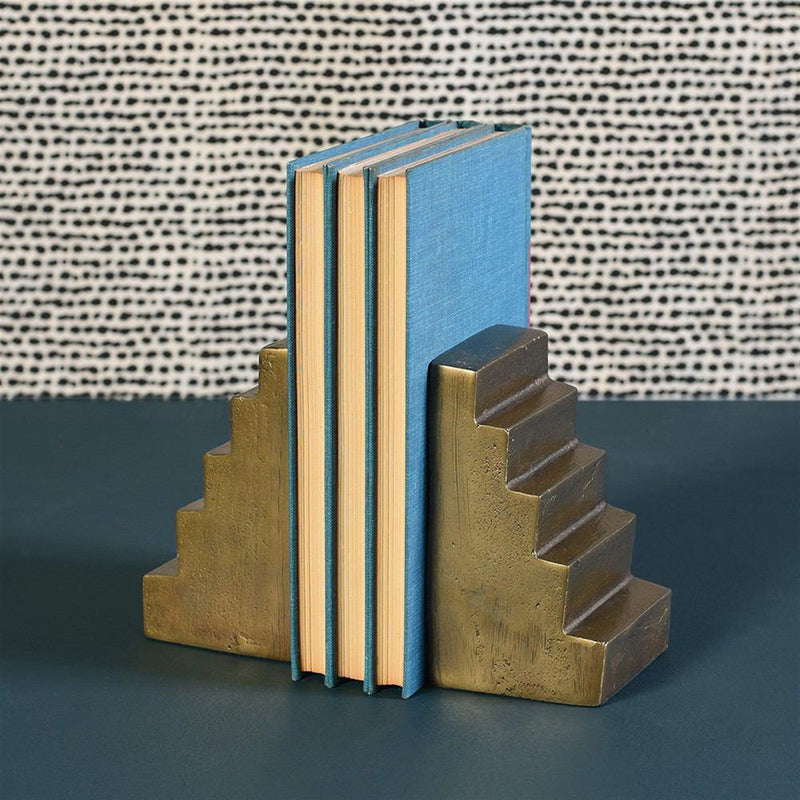 HomArt Stair Bookends - Brass
