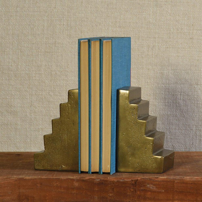 HomArt Stair Bookends - Brass - Feature Image