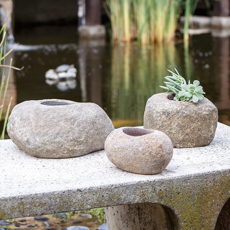 Garden Age Supply River Stone Pots - Set Of 3