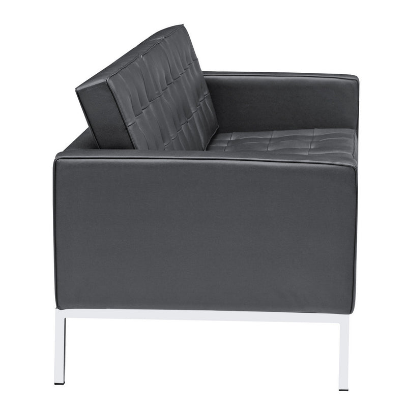 Fine Mod Imports Button Sofa in Leather