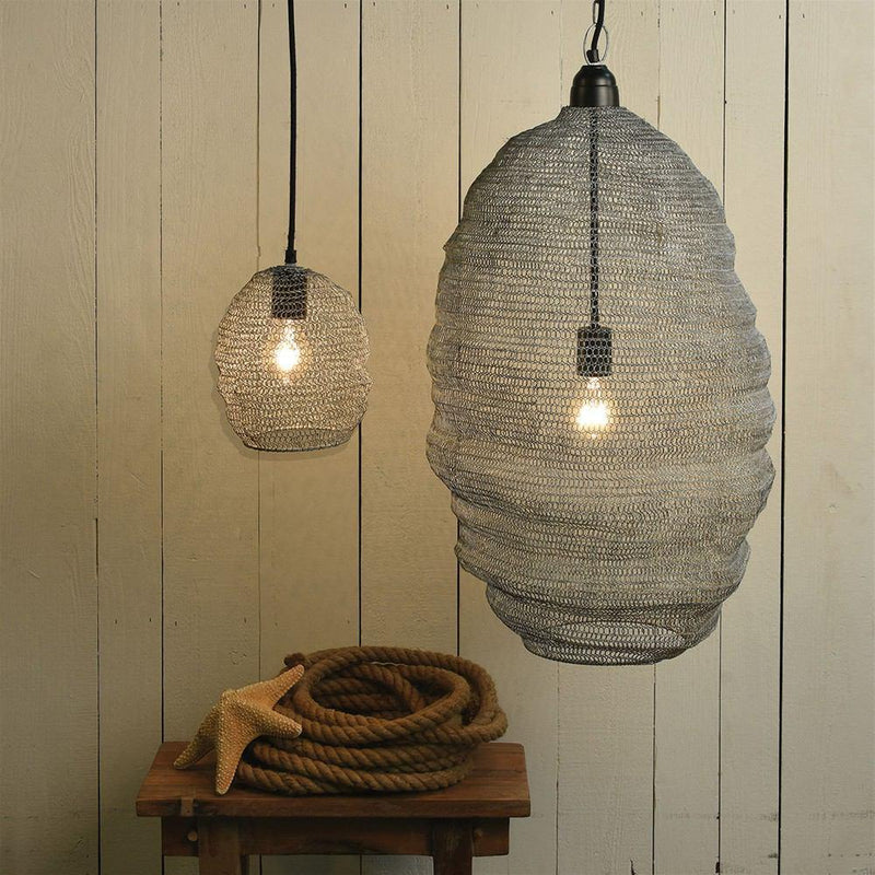 HomArt Bristol Looped Wire Pendant - Distressed Grey
