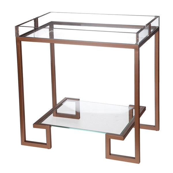 A&B Home Metal/Glass Side Table