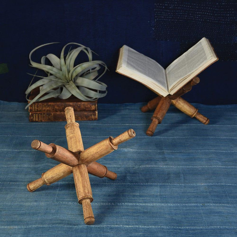 HomArt Wood Book Holder - Set of 2 - Feature Image