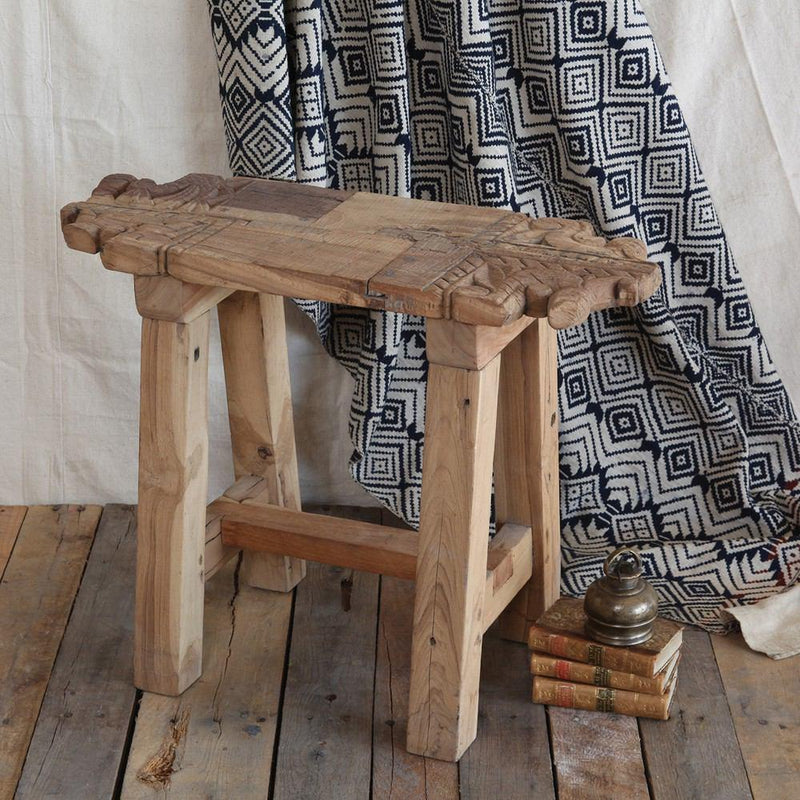HomArt Portico Salvaged Wood Stool - Feature Image