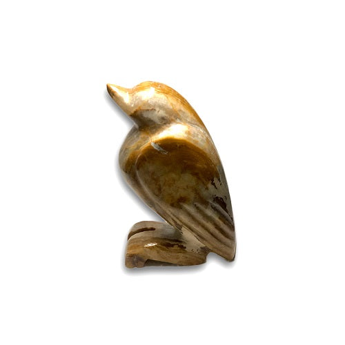 Bird Figurine Crafted from Brown Onyx Stones