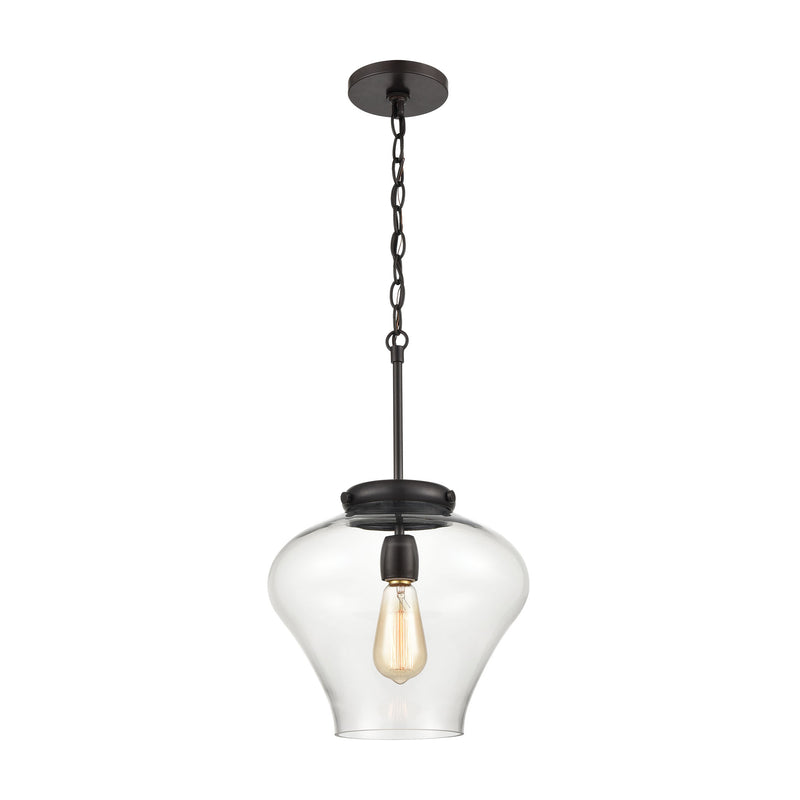 Amore 1-Light Pendant with Clear Glass by ELK Lighting