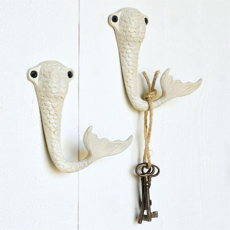 HomArt Cast Iron Wall Hook - Antique White - Set of 6 - Feature Image