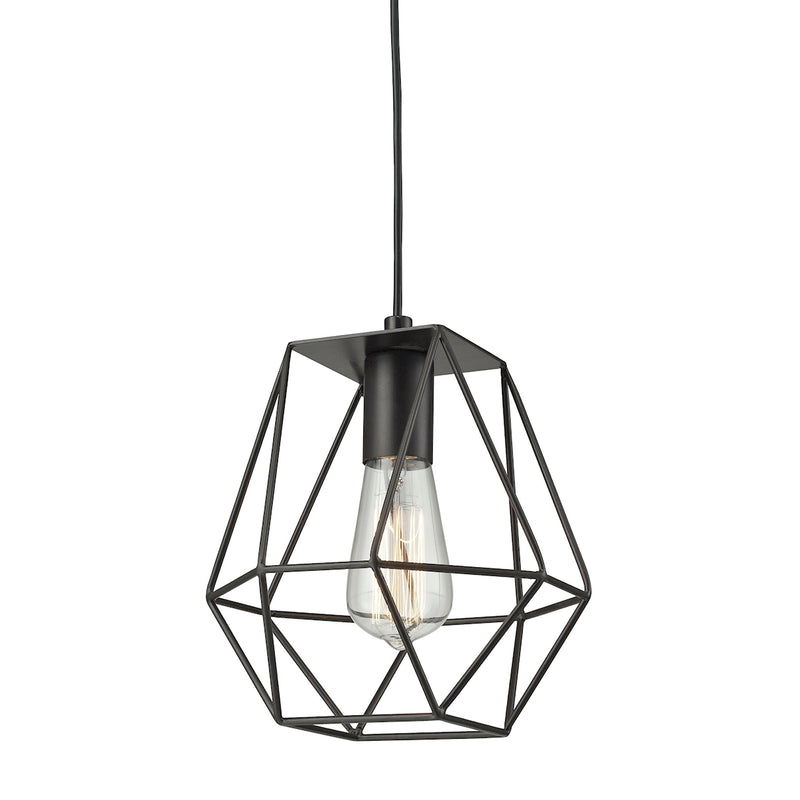 Delaney 1-Light Mini Pendant in Oil Rubbed Bronze ELK Lighting