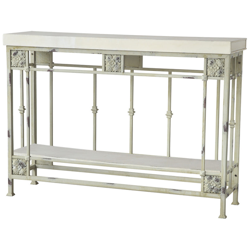 A&B Home Distressed Console Table