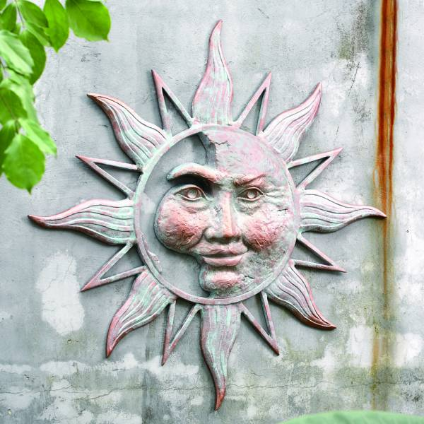 Half Face Sun Wall Plaque By SPI Home