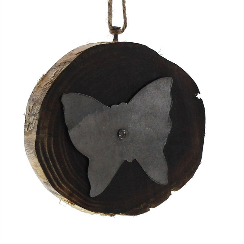 HomArt Wood Slice Ornament - Butterfly - Set of 8