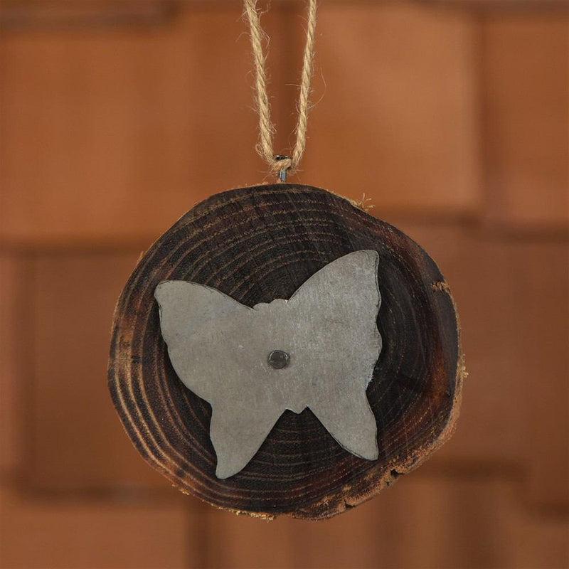 HomArt Wood Slice Ornament - Butterfly - Set of 8 - Feature Image