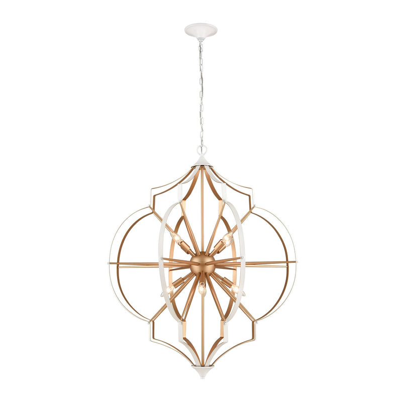 Laguna Beach Chandelier in Gold and White by ELK Lighting