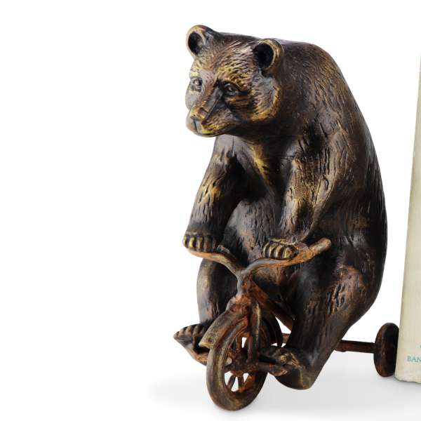 Bear on Trike Paperweight By SPI Home