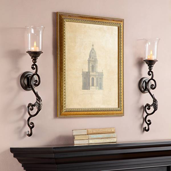 Leaf and Scroll Wall Sconce By SPI Home