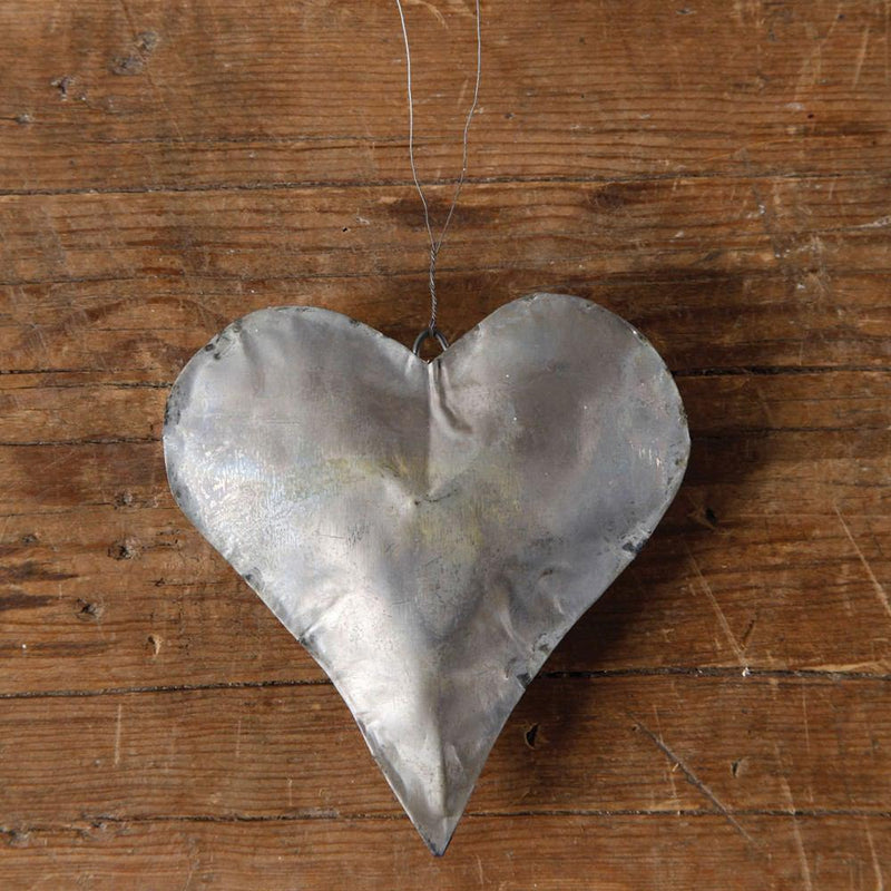 HomArt Tin Mans Heart - Galvanized - Set of 6