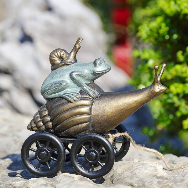 Pondside Coupe Frog and Snail By SPI Home