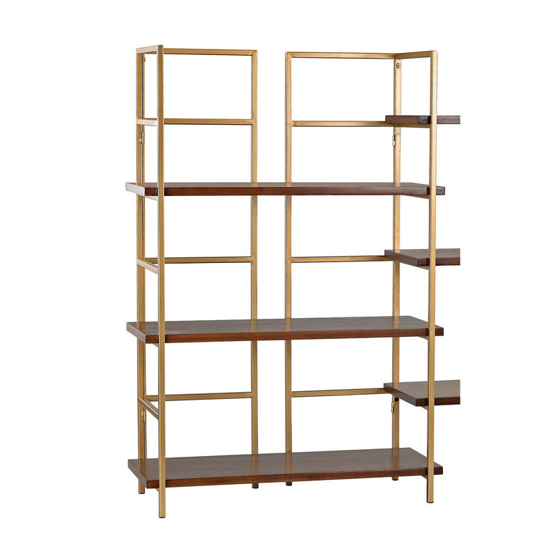 Sterling Industries Balart Gold And Walnut Extension For Shelf Unit Shelves & Shelving Units, Sterling Industries, - Modish Store