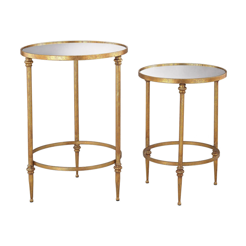Sterling Industries Alcazar Accent Tables In Antique Gold And Mirror