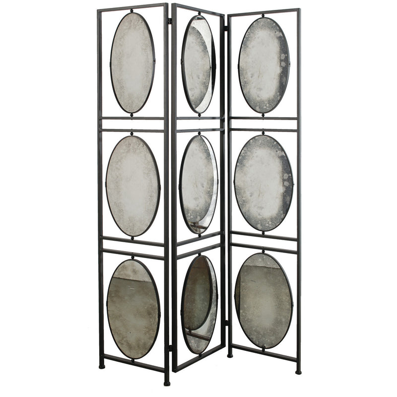 A&B Home Aviva 3-Panel Screen With Antiqued Mirrors