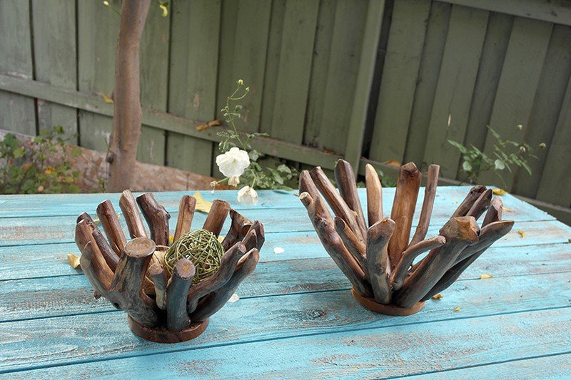 Garden Age Supply Harini Driftwood Branch Bowls - Set Of 3