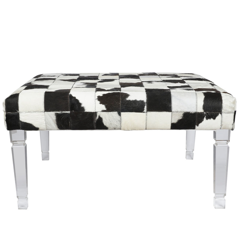 A&B Home Upholstered Bench With Acrylic Legs