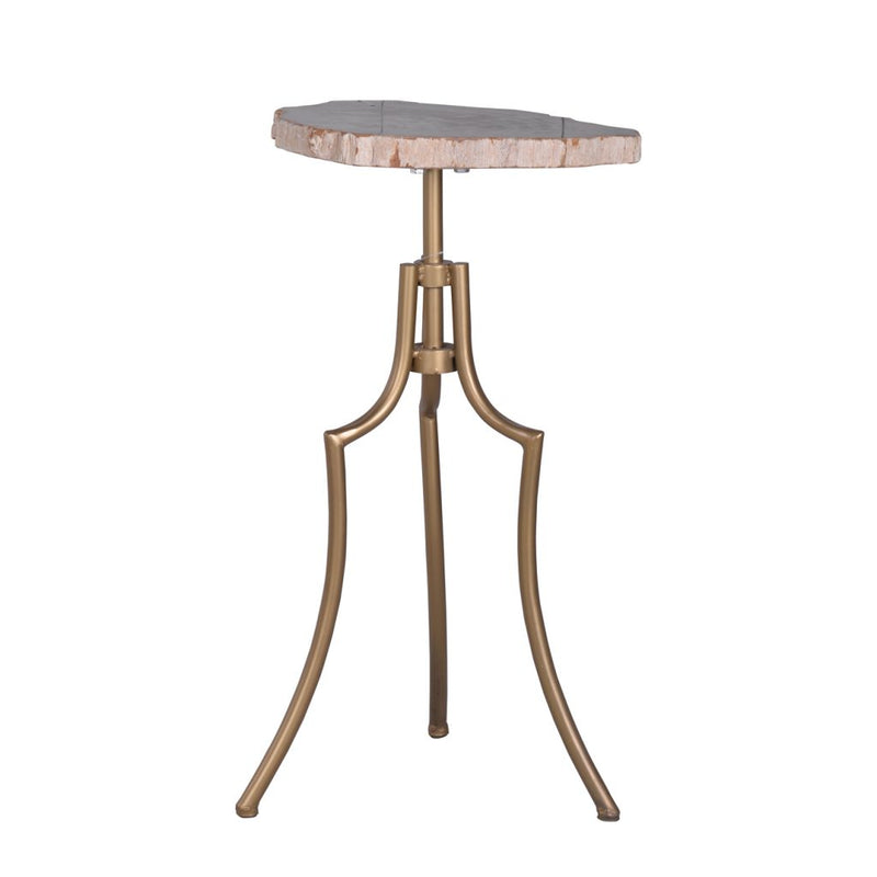 A&B Home Fret Tripod Side Table