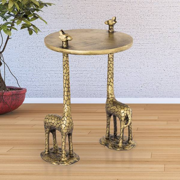 Giraffe Pair End Table By SPI Home